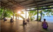 Our yoga practice is set in a blissful sea-front platform