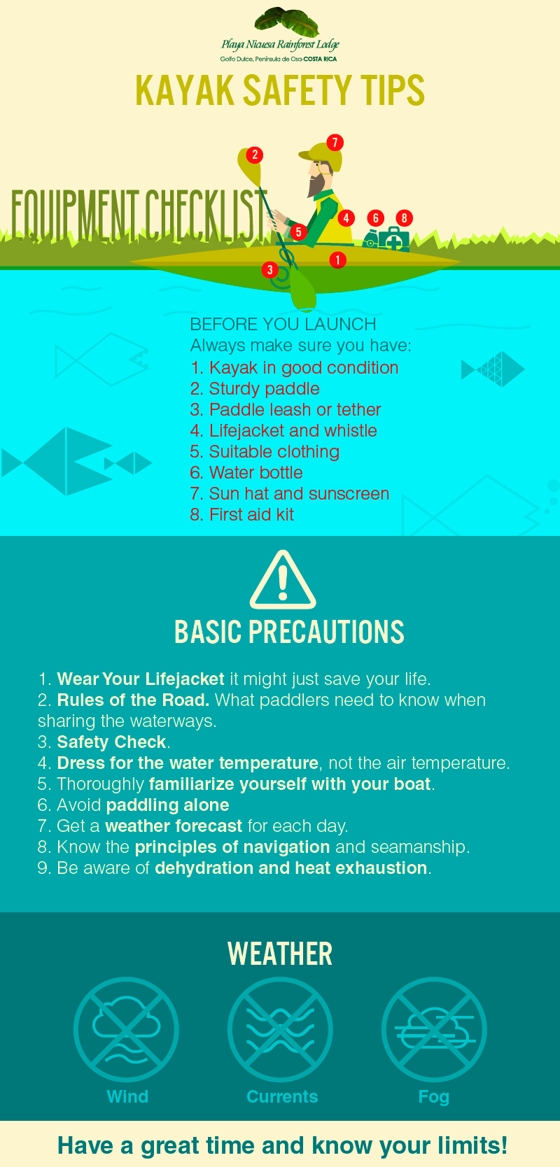 Kayak Safety Tips - Infographic