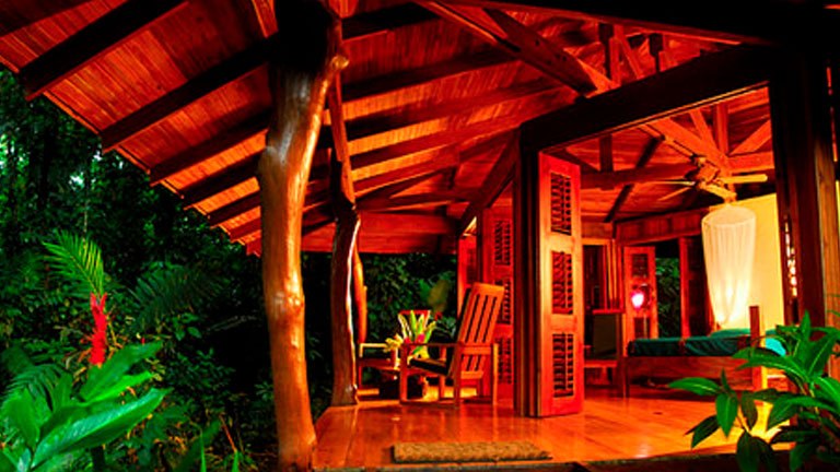 Luxury bungalow at Playa Nicuesa Rainforest Lodge in Costa Rica