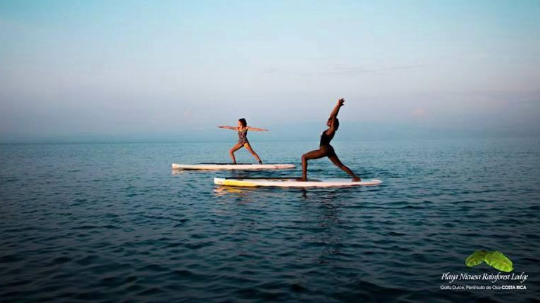 Enjoy yoga and stand up paddling at Playa Nicuesa Rainforest Lodge in Costa Rica