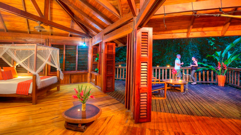 Jungle-chic accommodations at Playa Nicuesa Rainforest Lodge in Costa Rica