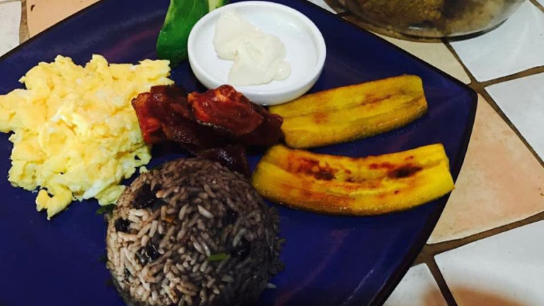 Delicious traditional Costa Rican breakfast at Playa Nicuesa Rainforest Lodge