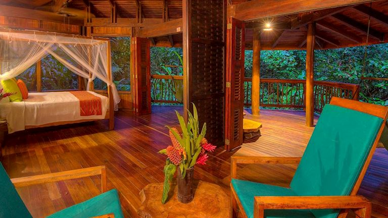You'll be coddled in comfort while staying in the jungle at Nicuesa Lodge.
