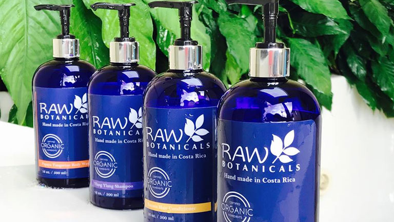 Nicuesa Lodge uses Costa Rican natural bath products by Raw Botanicals