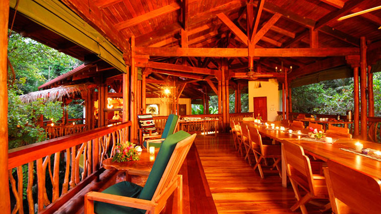 The dining is exquisite at Nicuesa Rainforest Lodge