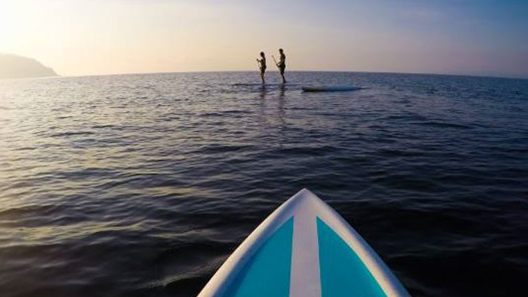 Stand up paddling at Nicuesa Lodge
