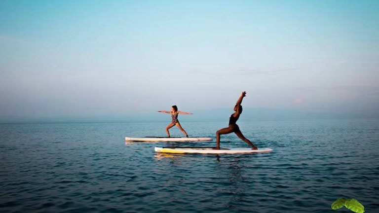 Yoga and stand up paddling at Playa Nicuesa Rainforest Lodge
