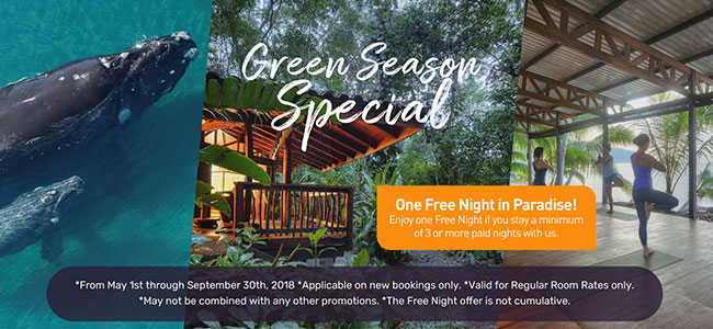 Puerto Jimenez, Osa Peninsula Lodge Green Season Special