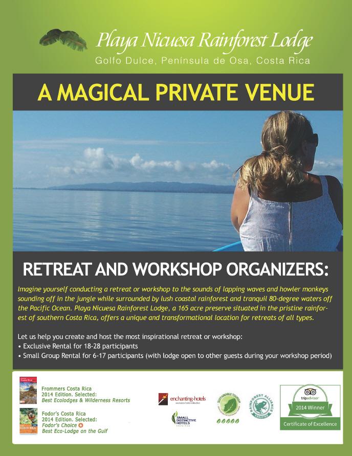 Costa Rica Events & Retreats Near Osa Peninsula