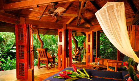 Rooms at Playa Nicuesa Rainforest Lodge, Osa Peninsula